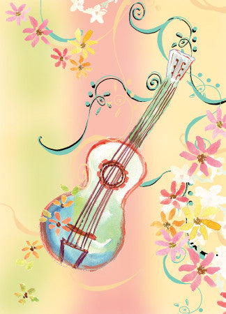 Blank Guitar Card - Greeting Card - Dreams After All