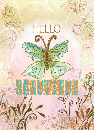 Blank Hello Beautiful Greeting Card - Greeting Card - Dreams After All