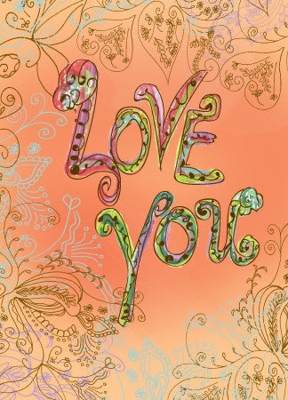 Blank Orange Love You Greeting Card - Dreams After All
