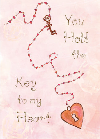 Key to My Heart Valentine's Day Card - Greeting Card - Dreams After All
