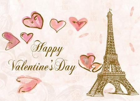 Eiffel Tower Valentine's Day Card