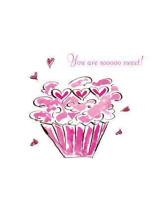 Valentine's Day Cupcake Card - Greeting Card - Dreams After All