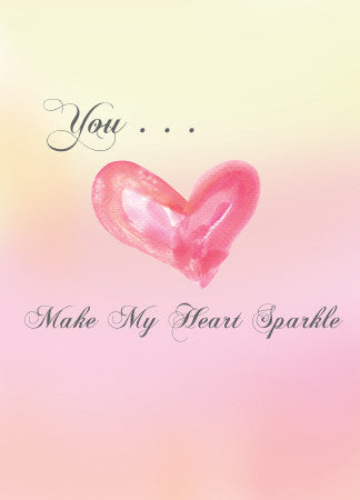 You Make My Heart Sparkle Valentine's Day Card