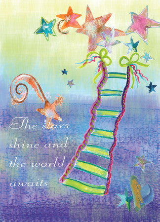 Graduation Stairs Greeting Card