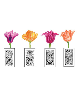 Blank Mom's Tulip Vase - Greeting Card - Dreams After All