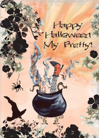 1, 3, 6, 12 OR 20 CARDS - Happy Halloween My Pretty Greeting Card - Dreams After All