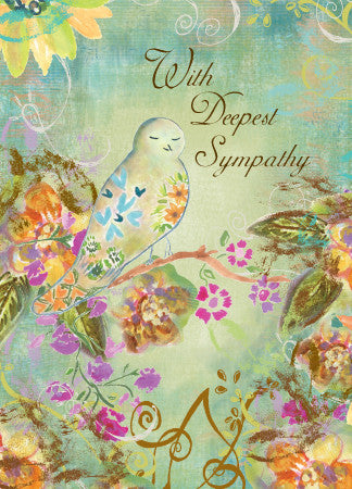 Dainty Bird Sympathy Card