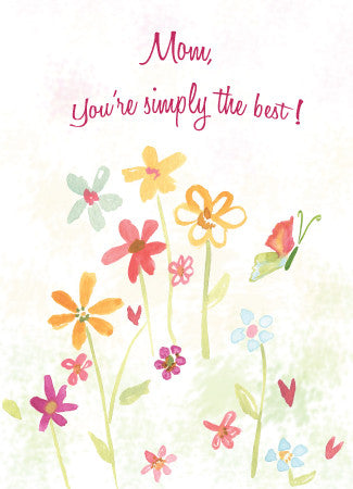 Mother's Day Greeting Card - Mom, You're Simply the Best! - Greeting Card - Dreams After All