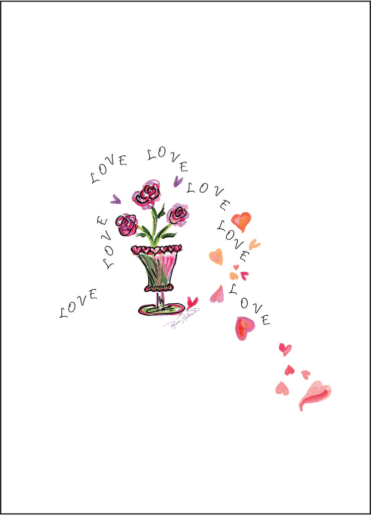 Love Love Love You (Love and Romance & Valentine's Day) - Greeting Card - Dreams After All