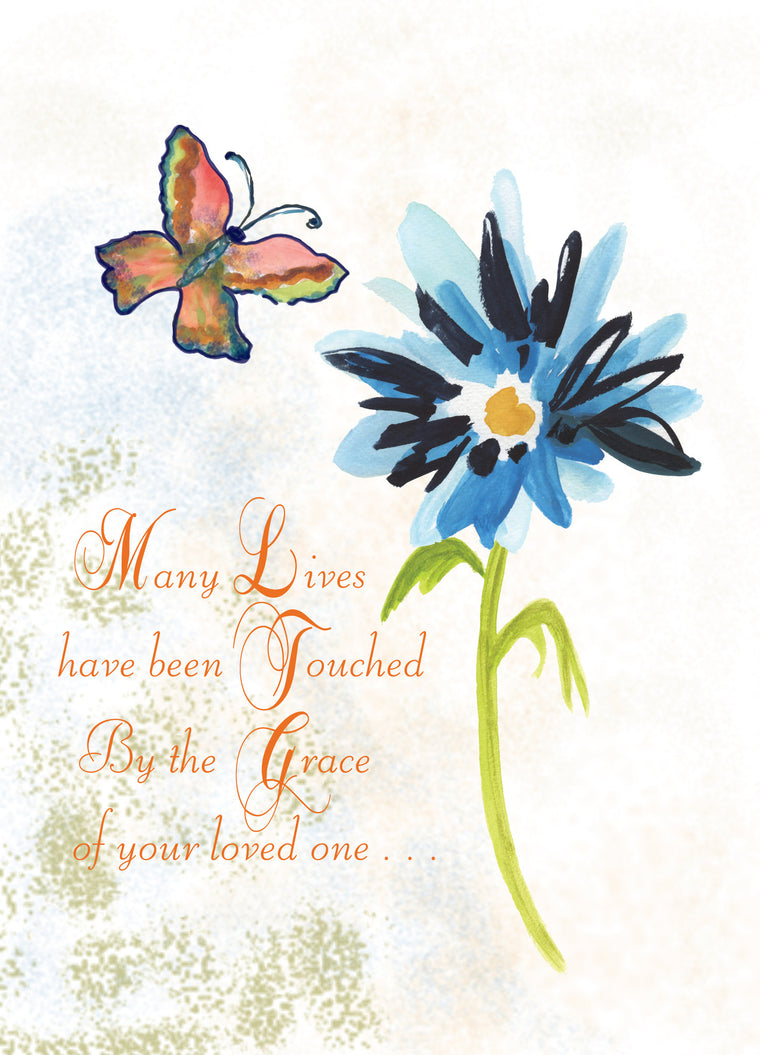 Blue Flower Sympathy Greeting Card - Greeting Card - Dreams After All