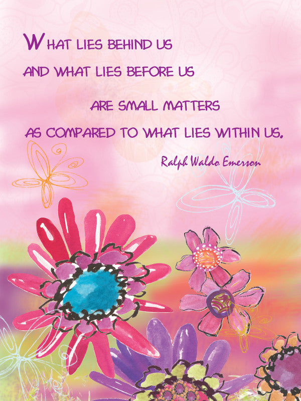 Ralph Waldo Emerson Quote Blank Card - Greeting Card - Dreams After All