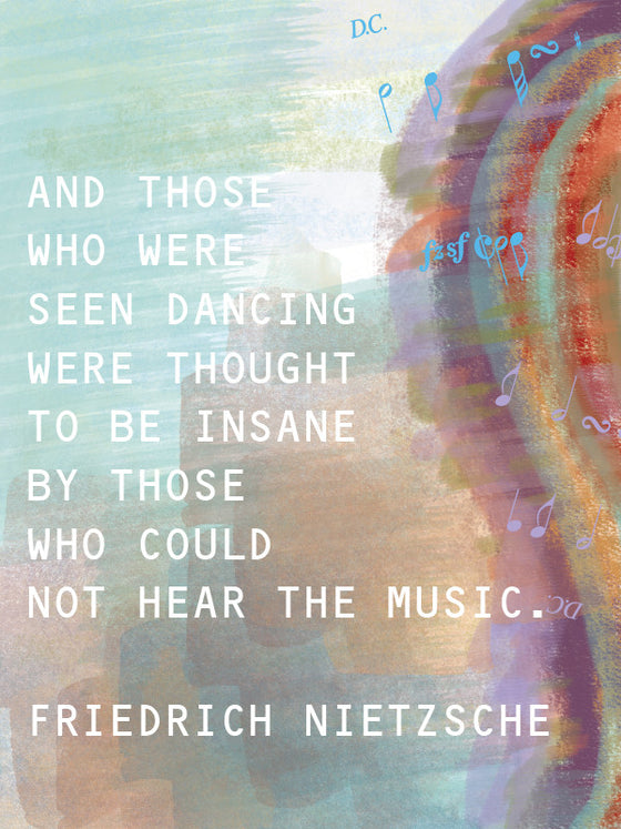 Friedrich Nietzsche Quote Blank Card - Dreams After All