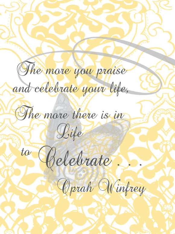 Oprah Winfrey Quote Blank Card - Dreams After All