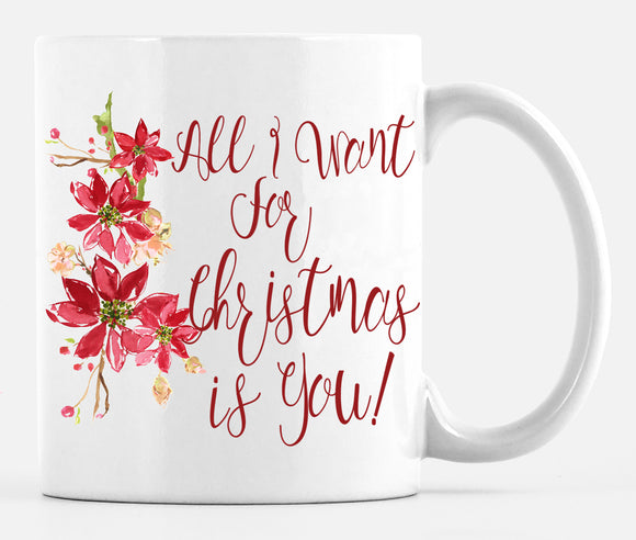 Mug : Holiday All I Want for Christmas Is You!!!  Mug - Dreams After All
