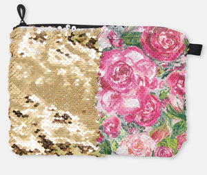 COSMETIC BAG - ROSE'S COTTAGE / GOLD SEQUINS - Dreams After All