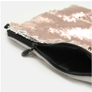 COSMETIC BAG - ROSE'S COTTAGE / SILVER SEQUINS - Dreams After All