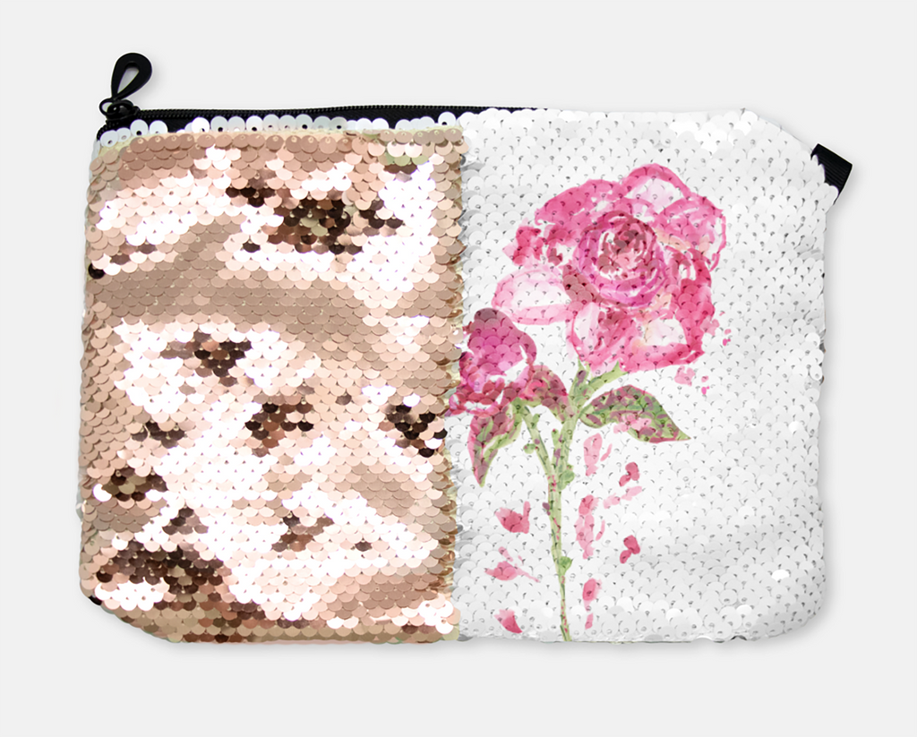 COSMETIC BAG - BEAUTIFUL YOU / ROSE GOLD SEQUINS - Accessory Pouches - Dreams After All