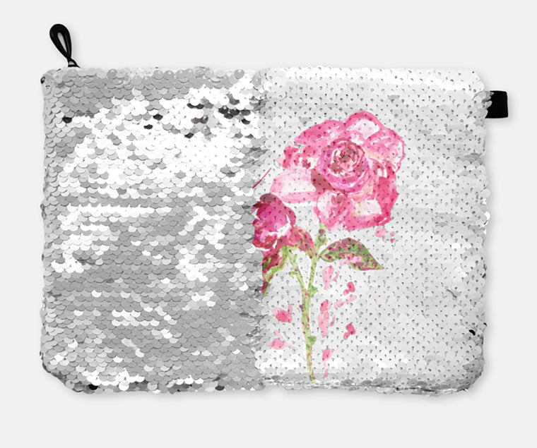 COSMETIC BAG - BEAUTIFUL YOU / SILVER SEQUINS - Dreams After All