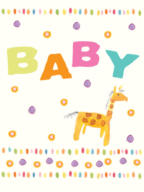 Happy New Baby Giraffe Greeting Card - Greeting Card - Dreams After All