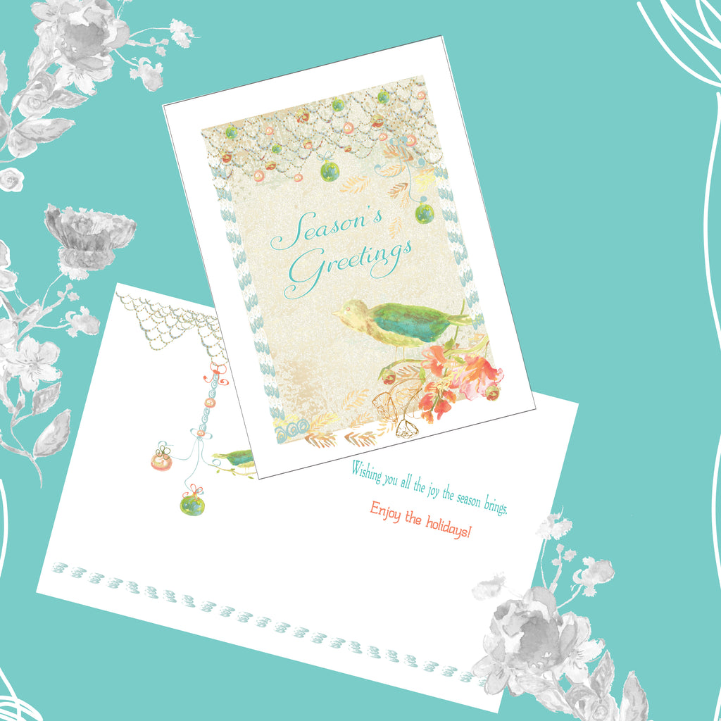 Package of 12 Beachy Seasons Greetings Cards - Holiday Cards - Dreams After All