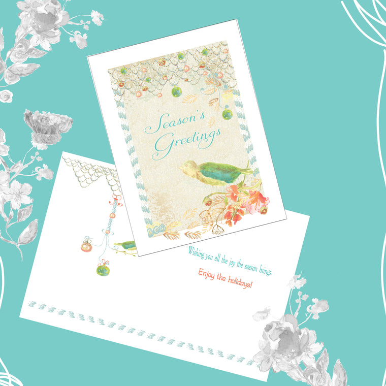 Season's Greetings Joy to the Season Card Pack 50% OFF - Greeting Card - Dreams After All