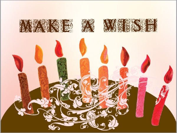 Make a Wish Happy Birthday Card - Greeting Card - Dreams After All