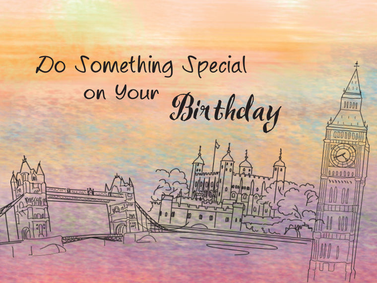 London Happy Birthday Card