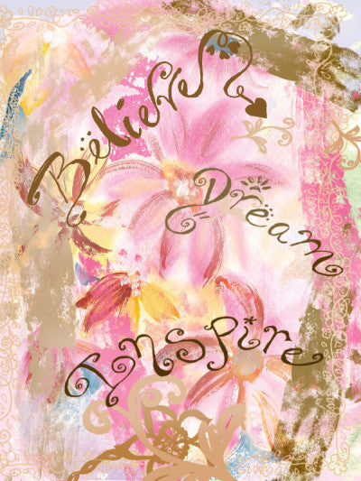 Blank Believe Dream Inspire Card - Greeting Card - Dreams After All