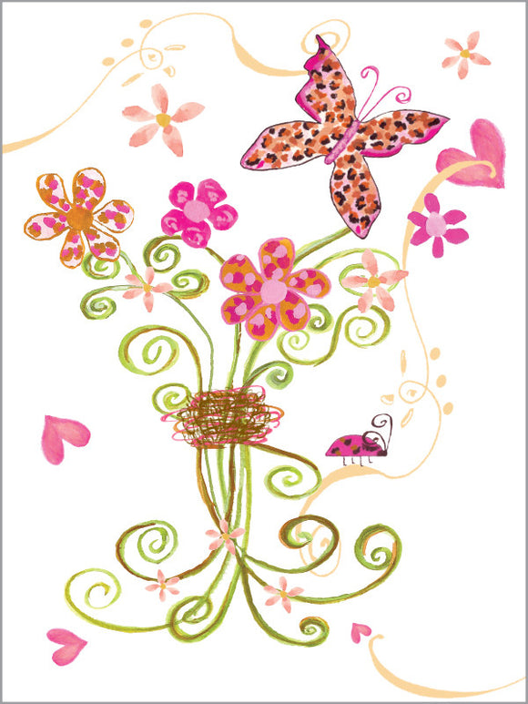 Blank Leopard Butterfly - Greeting Card - Dreams After All