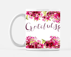 Blessed Grateful Happy Roses Mug - Dreams After All