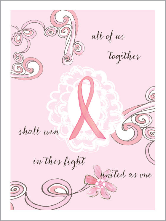 All Of Us Together Breast Cancer Support Card - Greeting Card - Dreams After All