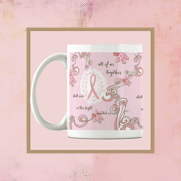 Breast Cancer Support Ceramic Mug - Dreams After All