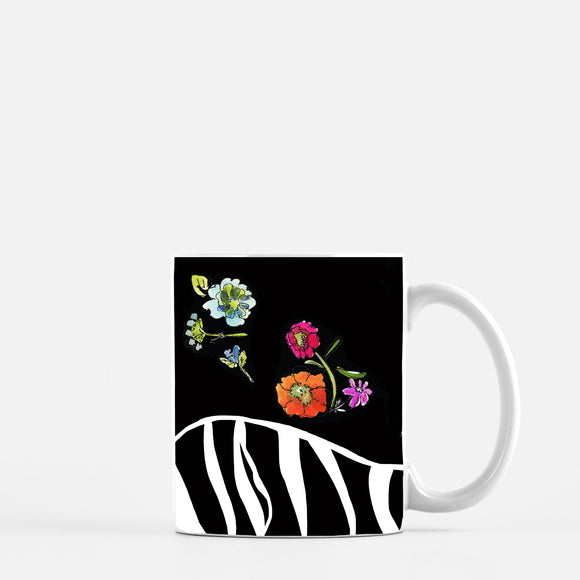 Zebra Floral Mug - Mugs - Dreams After All