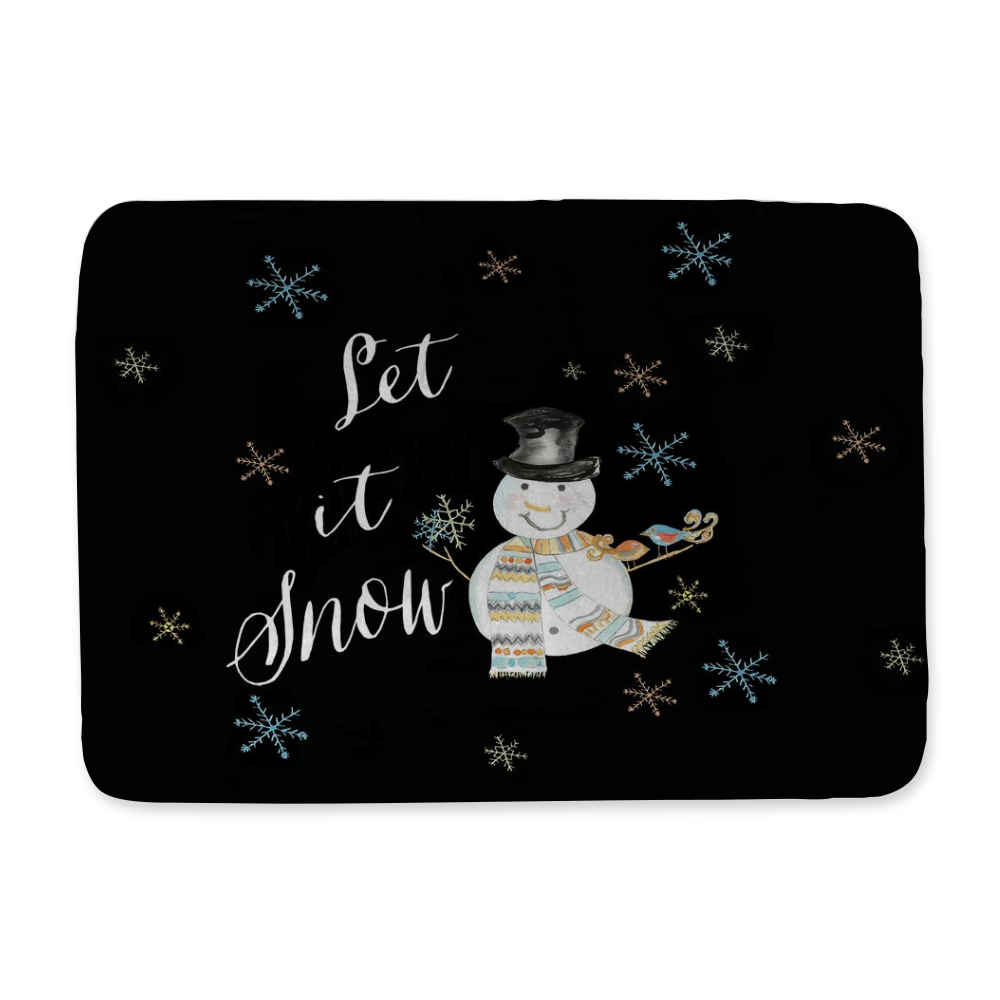 Let It Snow Snowman Bath Mat - Home Goods - Dreams After All