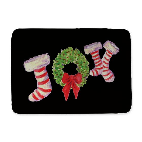 Joy Stockings Black Bath Mat - Home Goods - Dreams After All