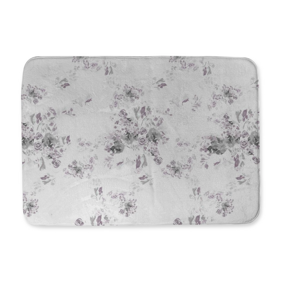 Ashton Floral Bath Mat Original Watercolor Designed and Made in the U.S.A. - Dreams After All
