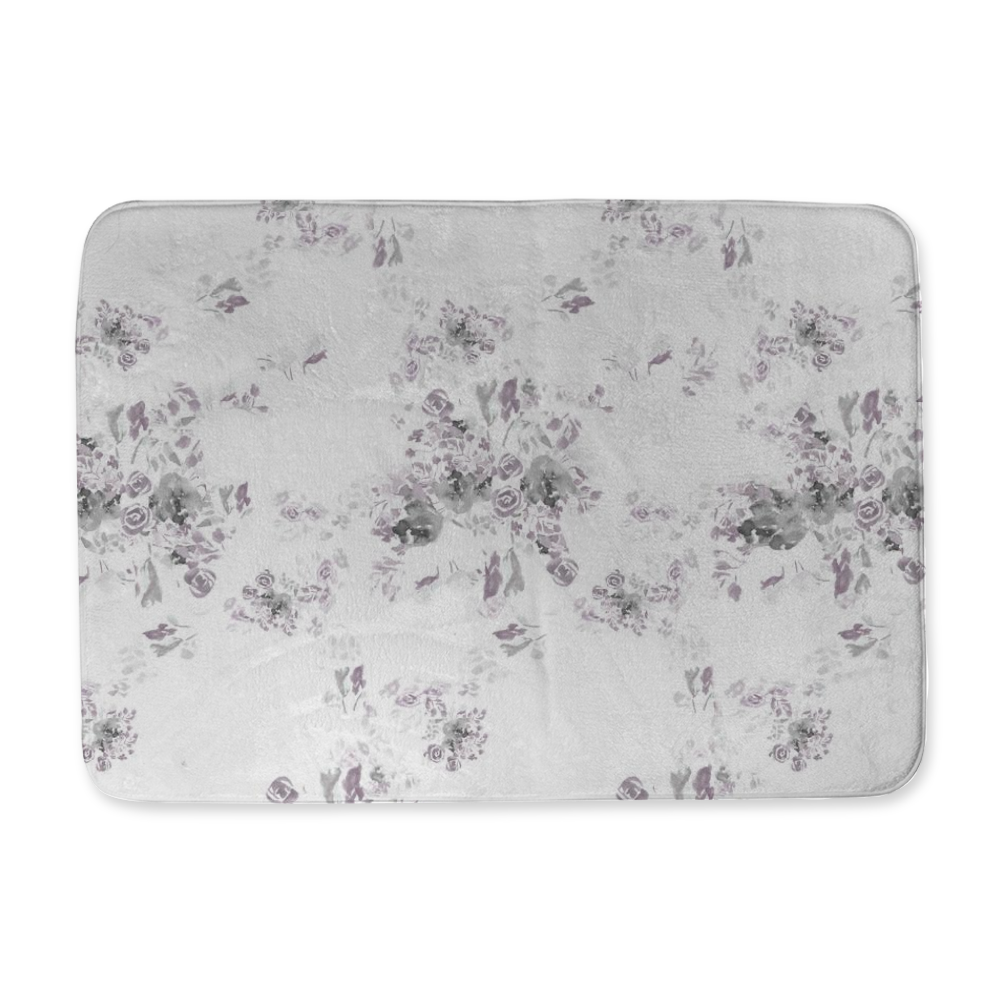 Ashton Floral Bath Mat Original Watercolor Designed and Made in the U.S.A. - Home Goods - Dreams After All