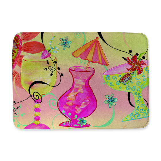 It has to be Five O'Clock Somewhere!  Happy Hour Bath Mat - Home Goods - Dreams After All