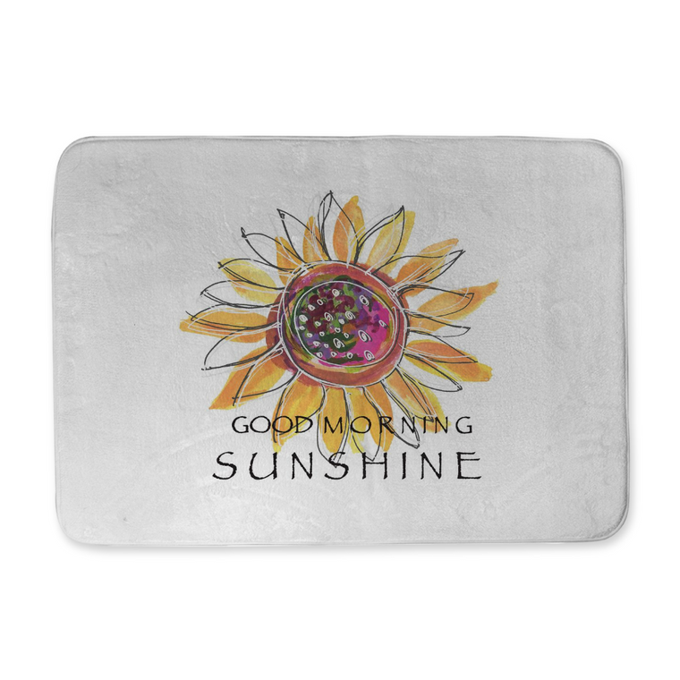 Good Morning Sunshine Bath Mat - bath mat - Dreams After All