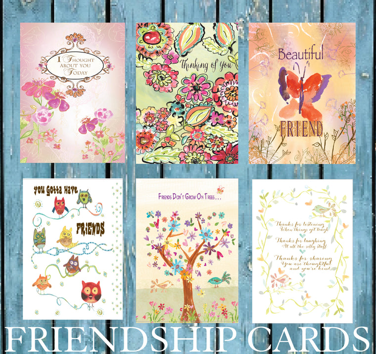 Friendship Card Pack of Six Greeting Cards - Dreams After All