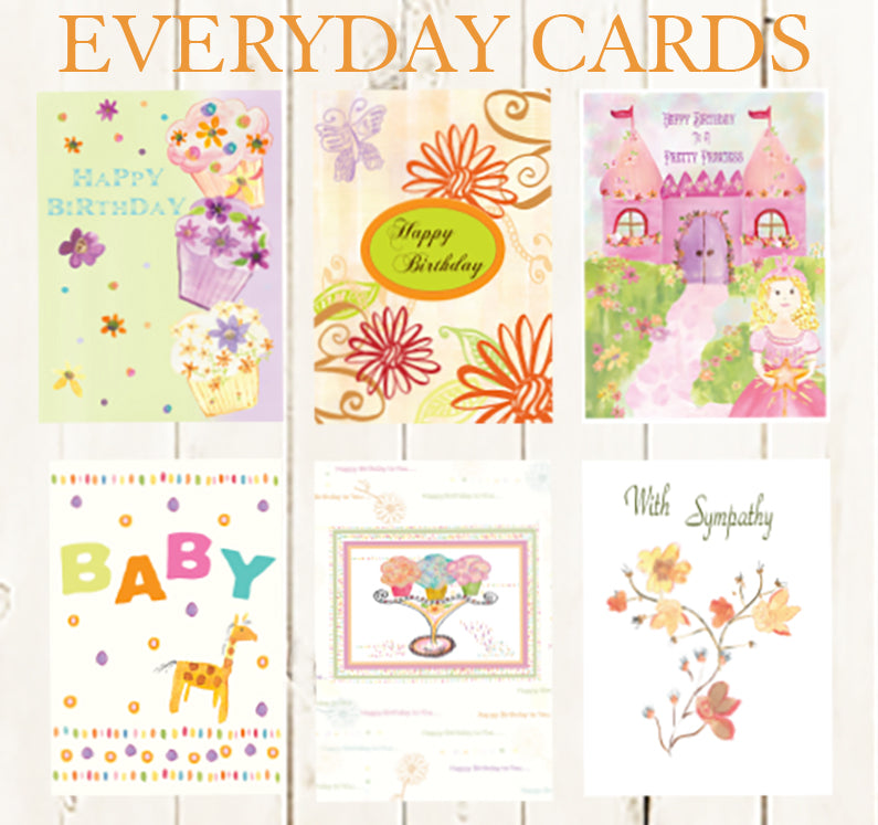 Everyday Package of Six Greeting Cards