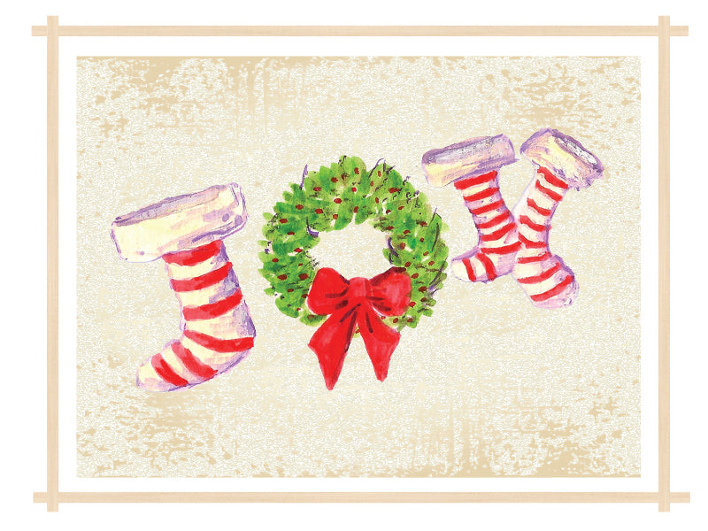 Joy Stockings Cards - 1, 6, 12 or 25 Cards in a Pack