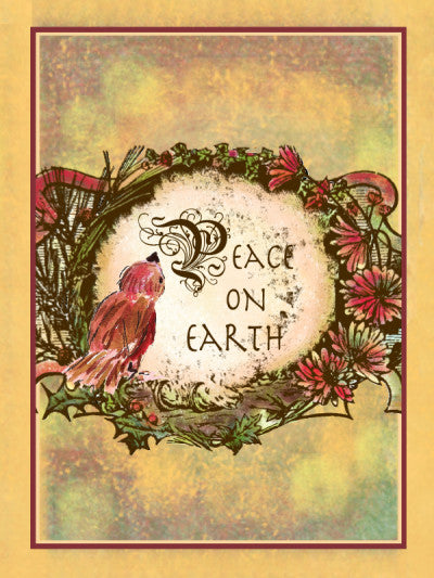 Package of 6 Peace On Earth Greeting Cards