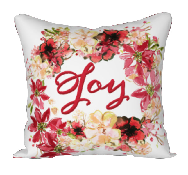 JOY Square Throw Pillow - COVER ONLY