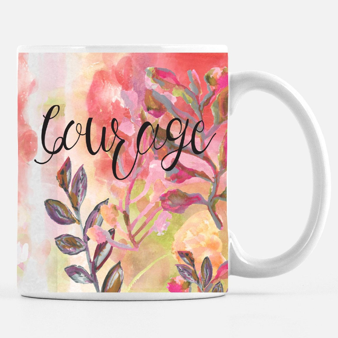 Courage 15 Ounce Large Ceramic Mug - Mugs - Dreams After All