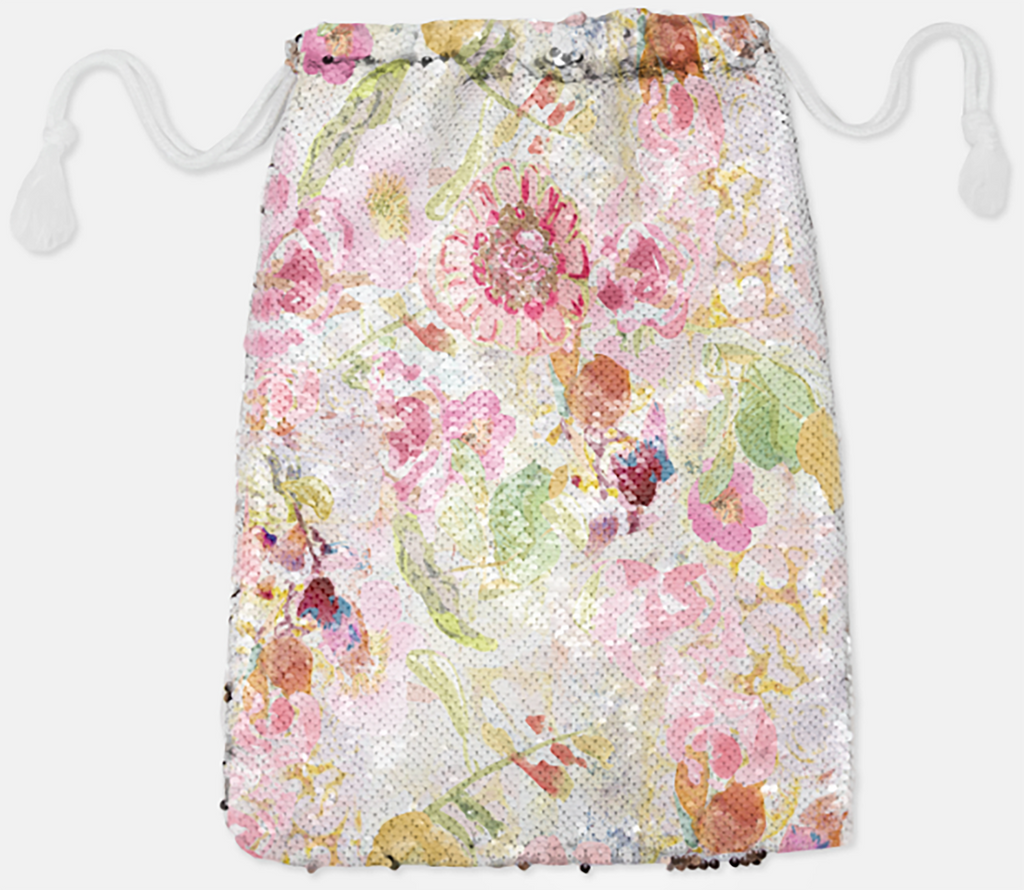 DRAWSTRING BAG - MOM'S PASTEL / ROSE GOLD SEQUINS - Accessory Pouches - Dreams After All