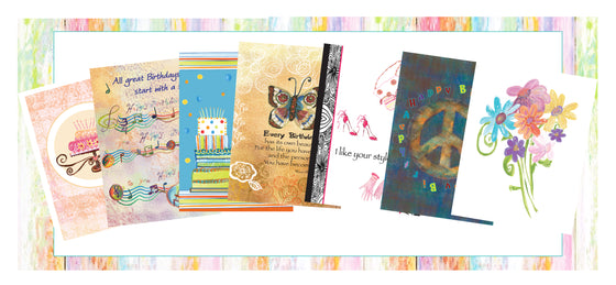 Everyday Package of Seven Greeting Cards - Dreams After All