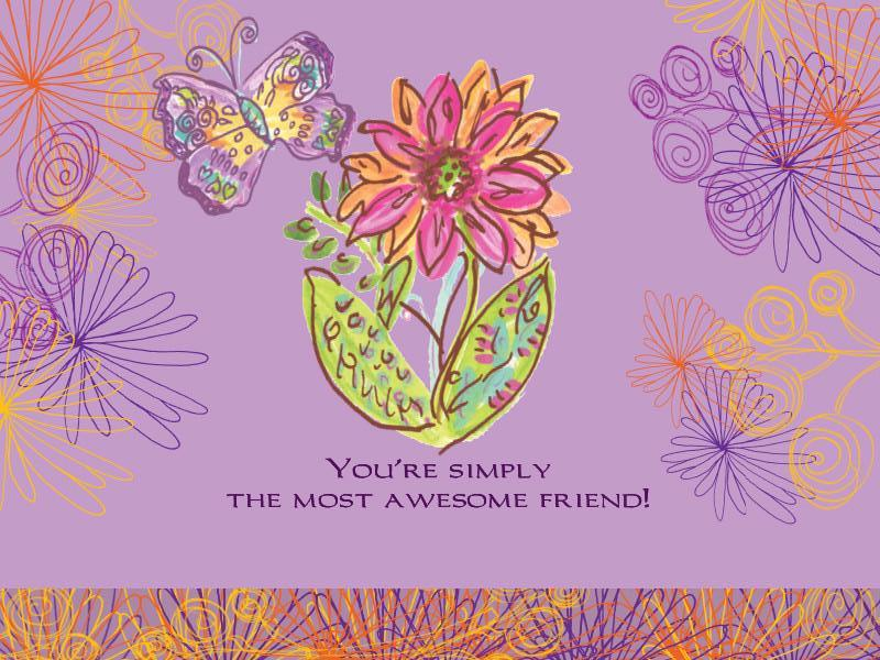 Awesome Friend Greeting Card