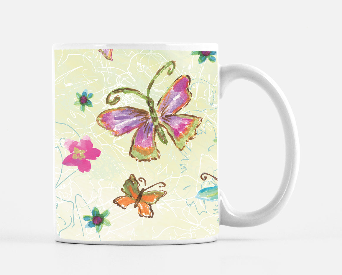 Four Butterfly 15 oz. Mug - Mugs - Dreams After All