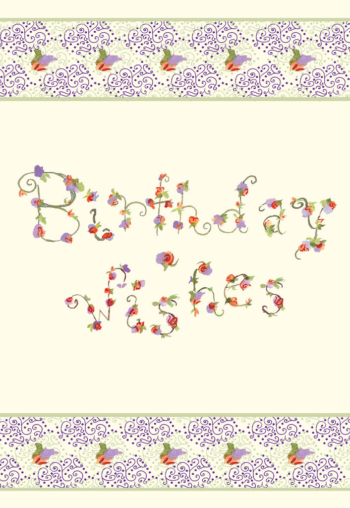 Birthday Wishes Floral Gift Enclosure